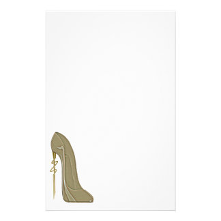 Steampunk Style Stiletto Shoe Art Stationery
