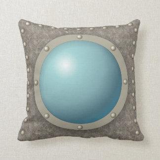 Steampunk submarine hublot cushion