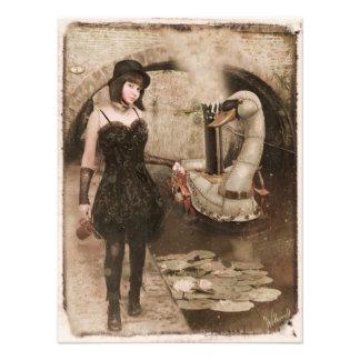 Steampunk Swan Photo Art