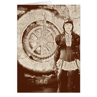 Steampunk Sylvia Card