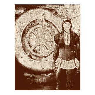 Steampunk Sylvia Postcard