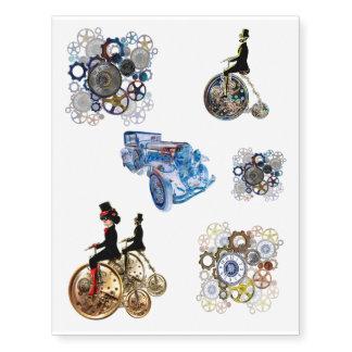 Steampunk Tattoos set of six