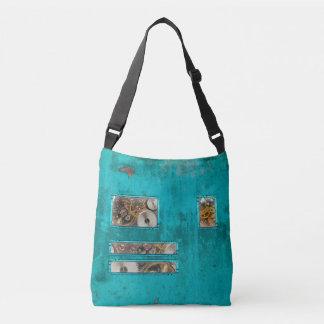 Steampunk Teal Crossbody Bag
