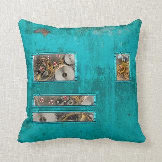 Steampunk Teal Cushion