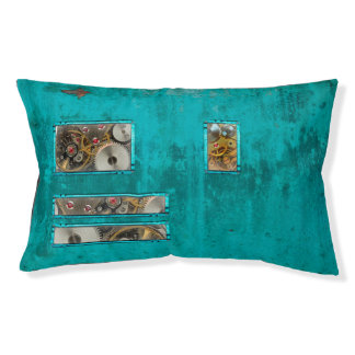 Steampunk Teal Pet Bed