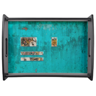 Steampunk Teal Serving Tray