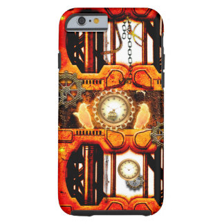 Steampunk , technical design with clocks, tough iPhone 6 case