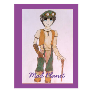 Steampunk Teen Postcard