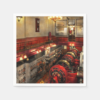 Steampunk - The Engine Room 1974 Disposable Napkin