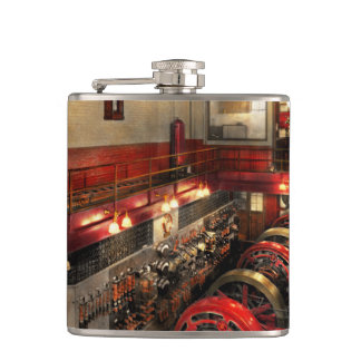 Steampunk - The Engine Room 1974 Hip Flask
