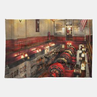 Steampunk - The Engine Room 1974 Tea Towel