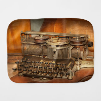 Steampunk - The history of typing Burp Cloth