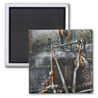 Steampunk - The Steam Engine Fridge Magnet
