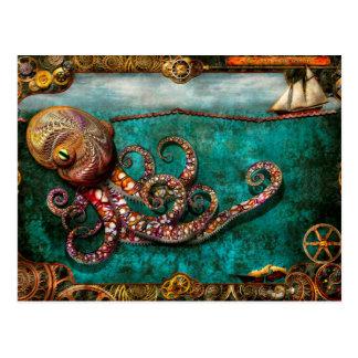 Steampunk - The tale of the Kraken Postcard