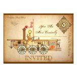 Steampunk Themed Party Custom Invitation