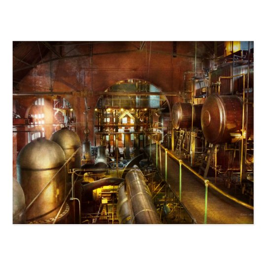 Steampunk - Think Tanks Postcard