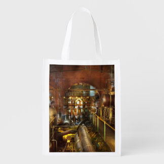 Steampunk - Think Tanks Reusable Grocery Bag