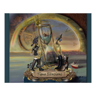 Steampunk - Time illusions Poster
