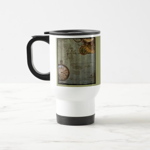 Steampunk Time Machine Coffee Mugs