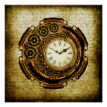 Steampunk Time Machine Posters