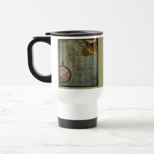 Steampunk Time Machine Travel Mug