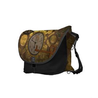 Steampunk Timekeeper Clocks Commuter Bags