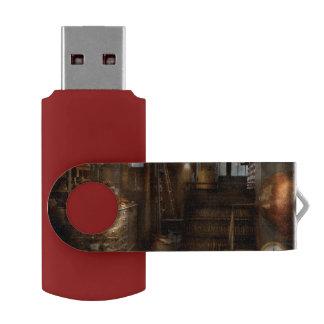 Steampunk - Tool room of a mad man Swivel USB 2.0 Flash Drive
