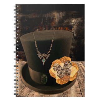 Steampunk Top Hat Hardcover Notebook