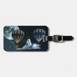 Steampunk traveller custom luggage tag
