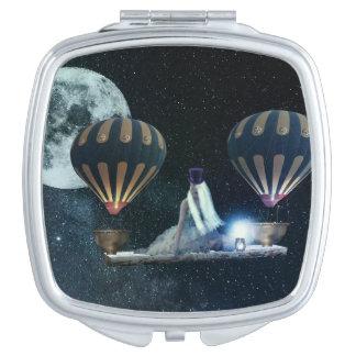 Steampunk Traveller Hot Air Balloons Mirror Mirrors For Makeup