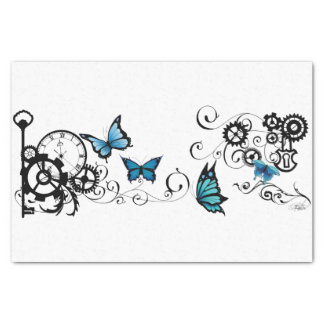 Steampunk Tribal Butterflies Tissue Paper