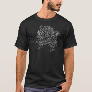Steampunk Turtle (White) T-Shirt