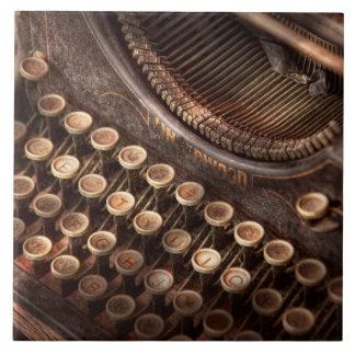 Steampunk - Typewriter - Too tuckered to type Tile