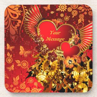 Steampunk Valentine 2 Coaster