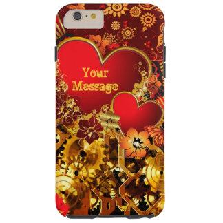 Steampunk Valentine 2 Tough iPhone 6 Plus Case