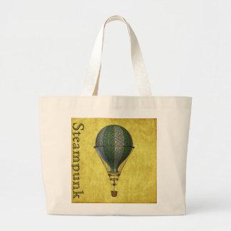 Steampunk Victorian Balloon Jumbo Tote Bag