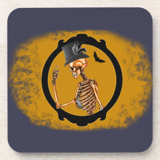 Steampunk Victorian Skeleton 2 Coaster