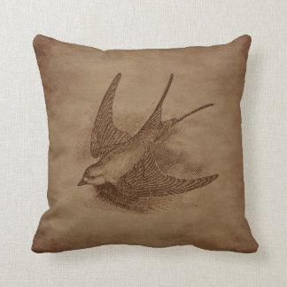 Steampunk Vintage Bird Cushion