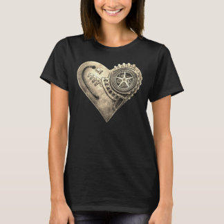 Steampunk Vintage Clockwork Heart T-Shirt