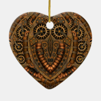 Steampunk  Vintage Heart Shaped Ornament