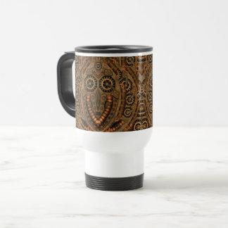 Steampunk Vintage Kaleidoscope   Travel Mug