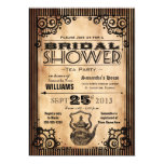 Steampunk Vintage Look Bridal Shower Tea Party 13 Cm X 18 Cm Invitation Card
