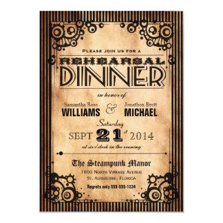 Steampunk Vintage Look Rehearsal Dinner Card