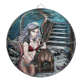 steampunk vintage mermaid where you left me dart boards