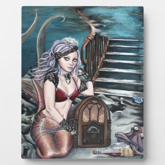 steampunk vintage mermaid where you left me photo plaque