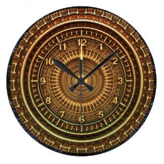 Steampunk Vintage Metallic Wall Clock