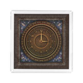 Steampunk Vintage Old-Fashioned Copper Clockwork Acrylic Tray