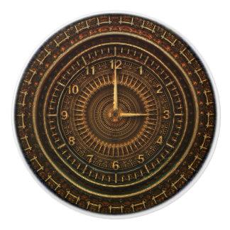 Steampunk Vintage Old-Fashioned Copper Clockwork Ceramic Knob