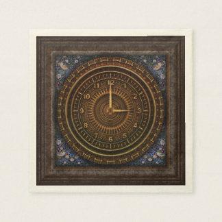 Steampunk Vintage Old-Fashioned Copper Clockwork Disposable Napkins