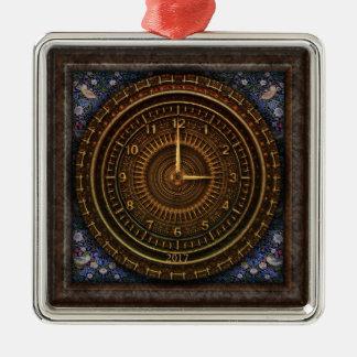 Steampunk Vintage Old-Fashioned Copper Clockwork Metal Ornament